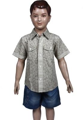 Chutti Pluss Boy's Checkered Casual Beige Shirt