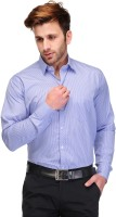 Koolpals Formal Shirts (Men's) - Koolpals Men's Striped Formal Blue Shirt