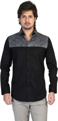 Apris Men's Printed Casual Grey Shirt
