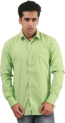 Frissk Men's Checkered Casual Green Shirt