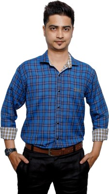 Relish Men's Self Design Casual Reversible Multicolor Shirt