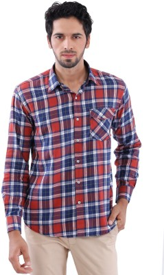 Cairon Men's Checkered Casual Brown Shirt