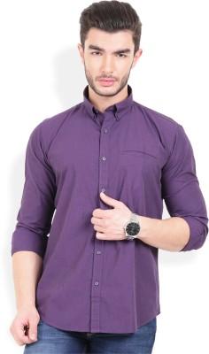 Urban Attire Men's Solid Casual Purple Shirt