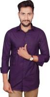 Gargi Fashions Formal Shirts (Men's) - GARGI FASHIONS Men's Solid Formal Purple, Purple Shirt