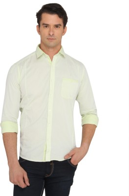 Donear NXG Men's Solid Casual Yellow Shirt