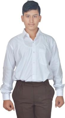 Evershine Men's Solid Formal White Shirt