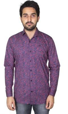 Mangue Men's Printed Casual Red Shirt