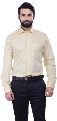 Alpha Centauri Men's Solid Casual Yellow Shirt