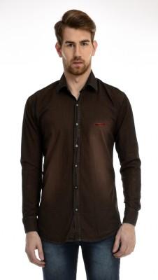 AVSPOLO Men's Solid Casual Brown Shirt