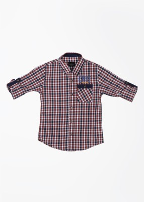 Cherokee Kids Boy's Checkered Casual White, Blue, Red Shirt