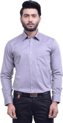 Hoffmen Men's Solid Formal Grey Shirt