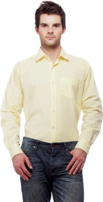 Fedrigo Men's Solid Casual Yellow Shirt