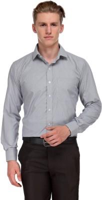 V2k Fashion Men's Solid Formal Grey Shirt