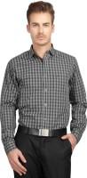 British Line Formal Shirts (Men's) - British Line Men's Checkered Formal Green Shirt
