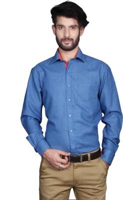 Yorkshire Men's Solid Formal Blue Shirt
