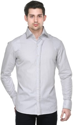 Fusion Freak Men's Solid Casual White Shirt