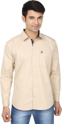 Fashion Flag Men's Solid Casual Beige Shirt