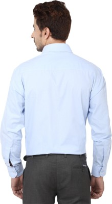 Hanu Men's Solid Casual Blue Shirt