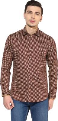 Invern Men's Printed Casual Maroon Shirt