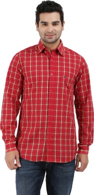 Haberfield Men's Checkered Casual Red Shirt