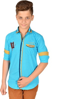 Anry Boy,s Checkered Casual Blue Shirt