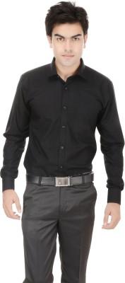 Kalrav Men's Solid Casual, Formal, Party, Wedding Black Shirt