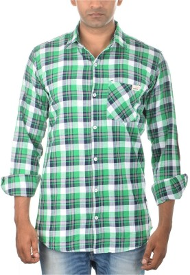 Jack 8 Men's Checkered Casual Green Shirt
