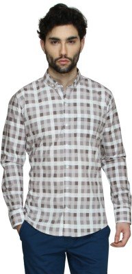 Cuffle Men's Checkered Casual Grey Shirt