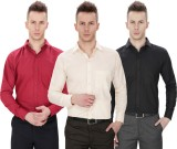 Regal Fit Plus Men's Solid Formal Multic...