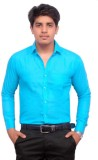 Hometrade India Men's Printed Casual Blu...