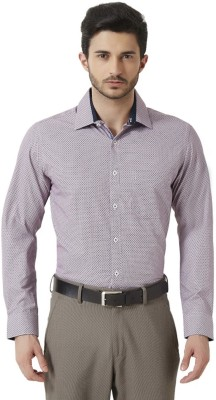 Peter England Men's Geometric Print Casual Multicolor Shirt