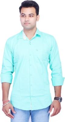 La Milano Men's Solid Casual Light Green Shirt