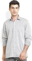Bay Ridge Formal Shirts (Men's) - Bay Ridge Men's Checkered Formal Grey Shirt