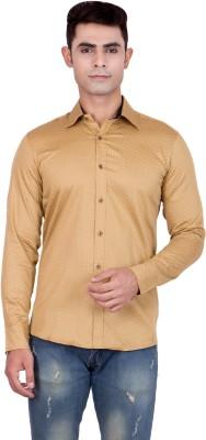 FDS Men,s Animal Print Casual Reversible Gold Shirt