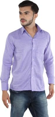 FDS Men,s Polka Print Casual Purple Shirt