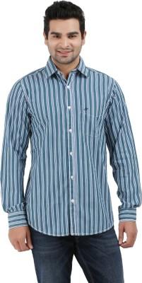 Haberfield Men's Striped Casual Green Shirt