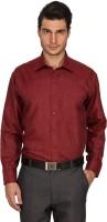 Culture Plus Formal Shirts (Men's) - Culture Plus Men's Solid Formal Red, Red Shirt