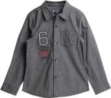 XnY Boys Solid Casual Grey Shirt