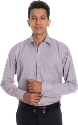Tag & Trend Men's Houndstooth Formal Brown Shirt