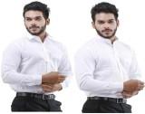 LaMode Men's Solid Casual White Shirt (P...