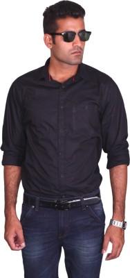 I Trendz Men's Solid Casual Black Shirt