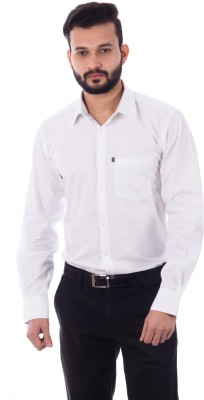 Cotton Treat Men's Solid Casual White Shirt
