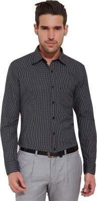 Urban Nomad By INMARK Men's Checkered Formal Black Shirt