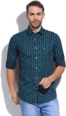 Arrow Sport Men's Printed Casual Blue Shirt