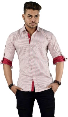 Your Desire Shirts Men's Striped Casual Multicolor Shirt