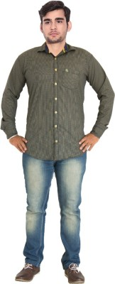 7 Buttons Men,s, Boy's Checkered Casual, Formal Brown Shirt
