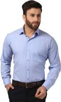 Mesh Formal Shirts (Men's) - Mesh Men's Solid Formal Blue Shirt