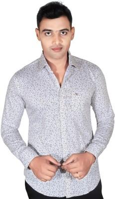 Fabrobe Men's Floral Print Casual White, Brown Shirt