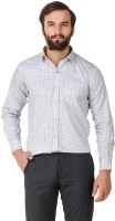 Amb Formal Shirts (Men's) - Amb Men's Printed Formal White Shirt