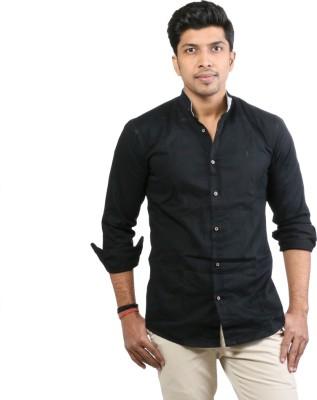 Basil Men's Solid Casual Black Shirt